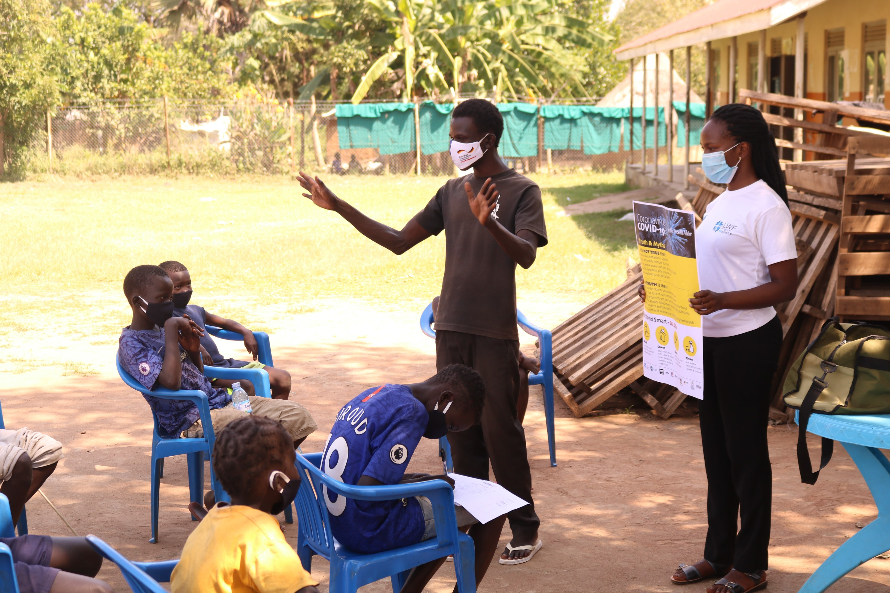 Engaging South Sudanese children and youth with the COVID-19 prevention message in Adjumani, West Nile