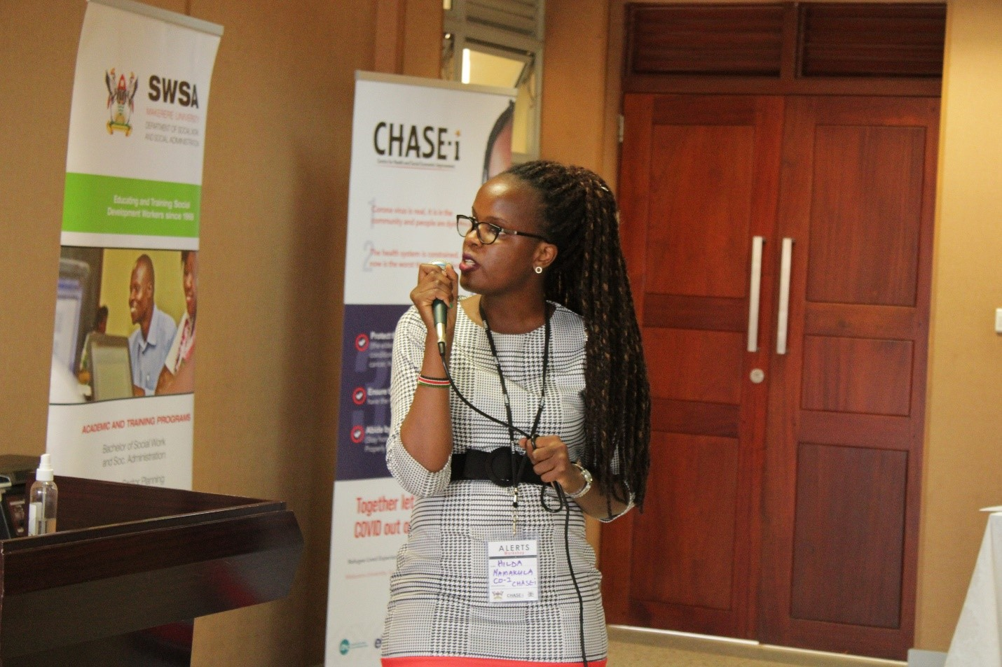 Hilda Namakula a Co-Investigator of the ALERTs study presenting the Key Findings at the ALERTs Validation and Co-Design Event