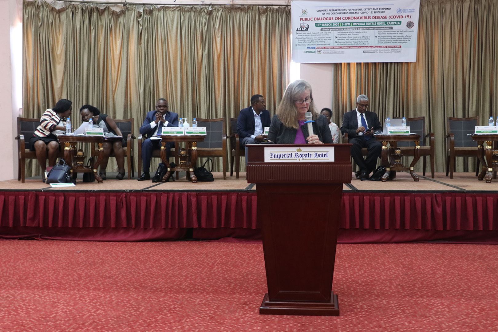 Dr.Lisa Nelson, the US Centres For Disease Control(CDC) Country Director at the event